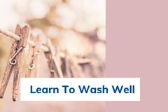 Learn to wash clothing. No stains and keep white
