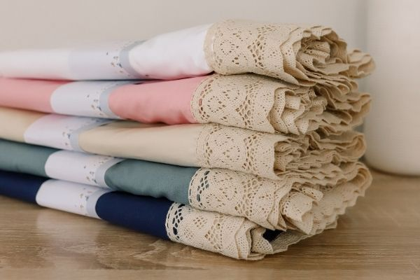 Heirloom Lacey edged baby blankets made in Australia for new mums