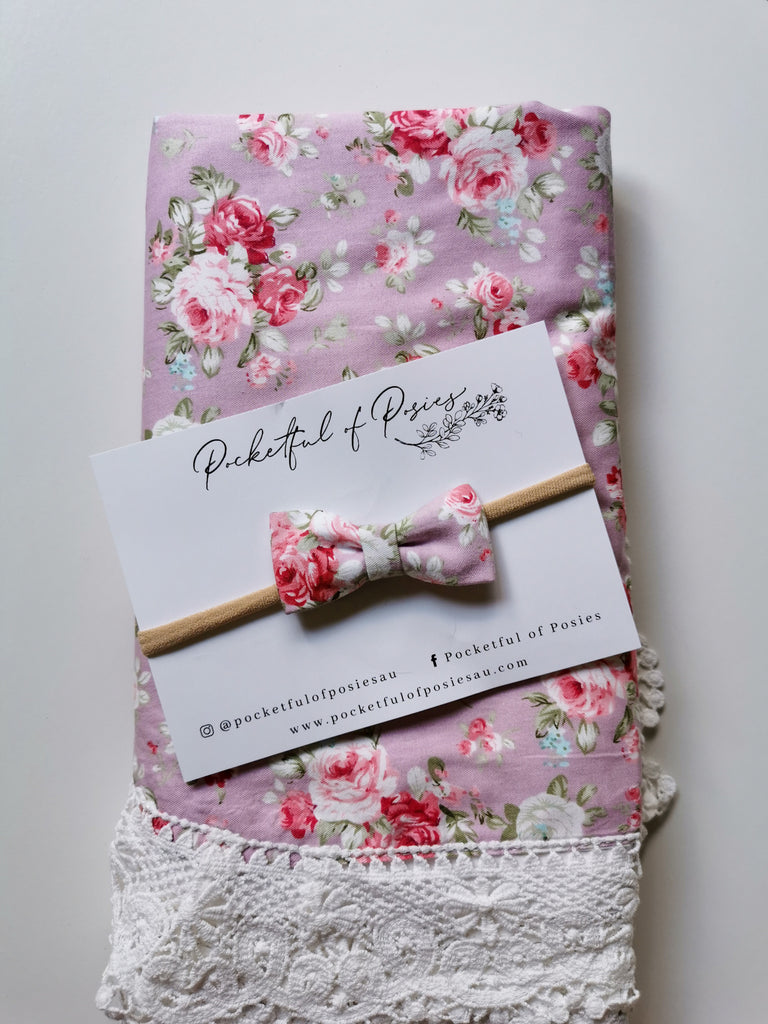 Spring Pink Floral Bow