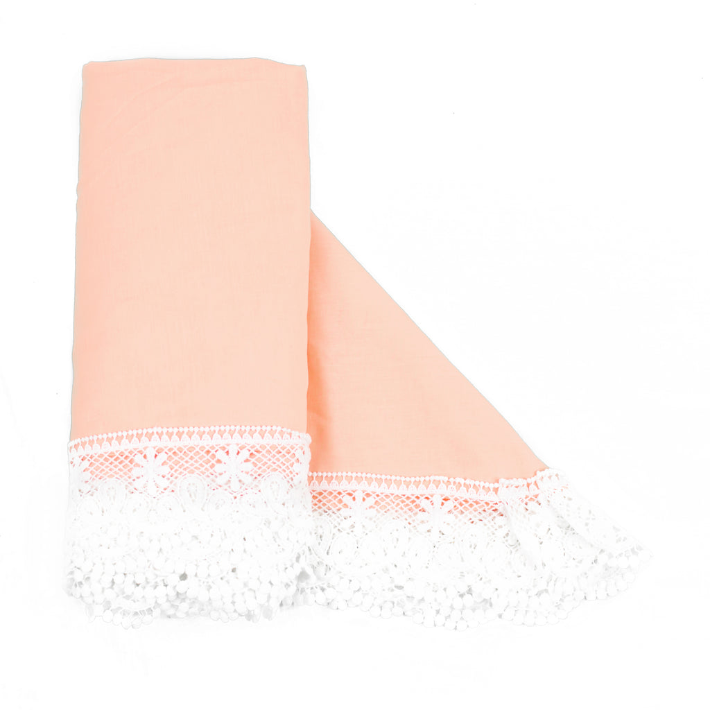 The Gorgeous Peach - heirloom swaddle blanket