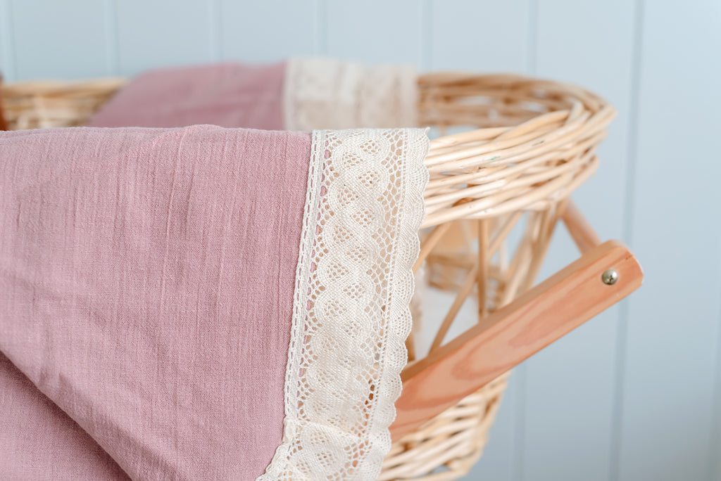 Dusty Pink Premium Cheesecloth Heritage Blanket
