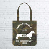 BHS DOG Camouflage totebag