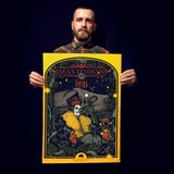 MASTODON / GOJIRA Limited Edition Screen Printed Poster 2018