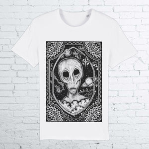 BHS ALIEN ORGANIC COTTON UNISEX WHITE T-SHIRT