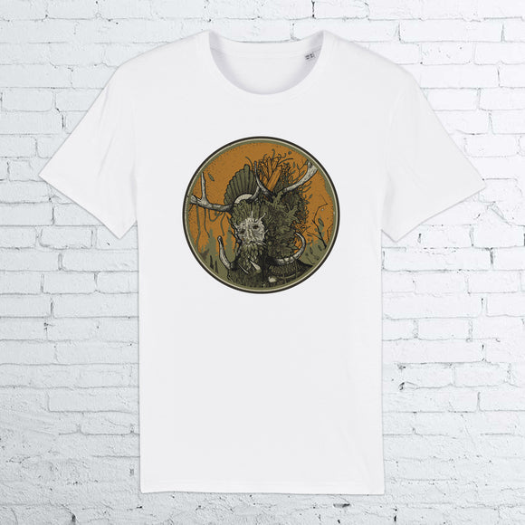 BHS GREEN MAN ORGANIC COTTON UNISEX WHITE T-SHIRT