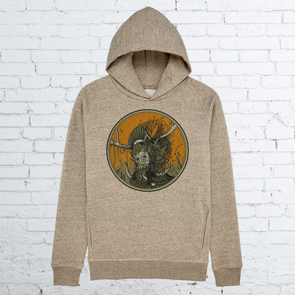 GREEN MAN UNISEX HEATHER CLAY HOODIE