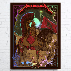 METALLICA RAINBOW FOIL Limited Edition Poster WARSAW 2019