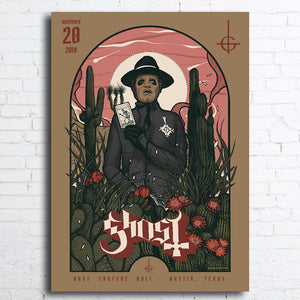 GHOST Limited Edition Poster Austin, TX 2018