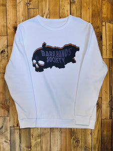 BHS MAP WHITE UNISEX CREWNECK