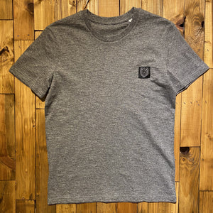 BHS LOGO ORGANIC COTTON UNISEX HEATHER STONE T-SHIRT