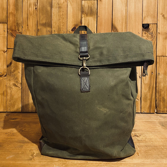 Bare Hands Society Waxed Canvas Backpack