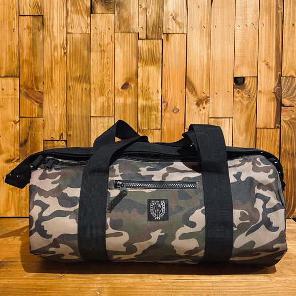 Bare Hands Society Camo Barrel Bag