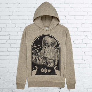 BHS LAZER EYES UNISEX HEATHER CLAY HOODIE