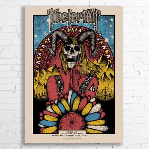 KVELERTAK Limited Edition Screen Printed Poster 2016