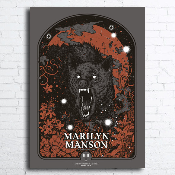 Marilyn Manson Limited Edition Screen Printed Poster ***Exclusive, not for sale***