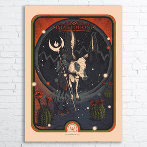 MASTODON Limited Edition Screen Printed Poster 2018