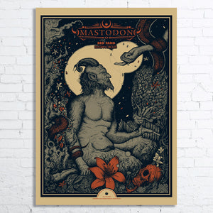MASTODON Limited Edition Screen Printed Poster 2017