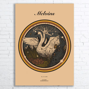 MELVINS Limited Edition Screen Printed Poster 2018