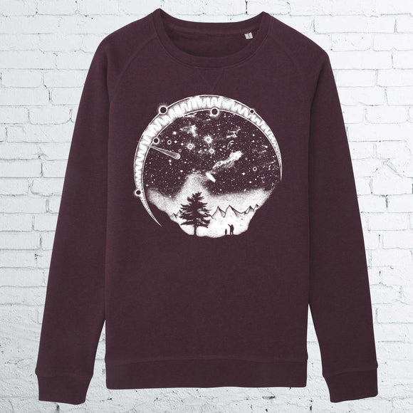 STARRY SKY UNISEX GRAPE CREWNECK