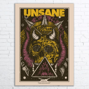UNSANE Limited Edition Screen Printed Poster 2017