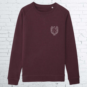 BHS LOGO WOMEN GRAPE CREWNECK