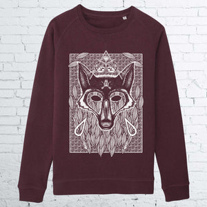 WOLF WOMEN GRAPE CREWNECK