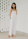 THE CLIMB EYELET PANTS (WHITE)