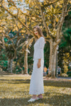 BLYTHE FLARED SLEEVE MAXI DRESS (WHITE)