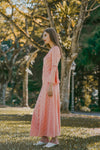 BLYTHE FLARED SLEEVE MAXI DRESS (SORBET)