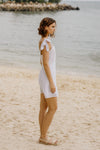 SKY KNOTTED STRAP DRESS (WHITE)