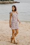 SKY KNOTTED STRAP DRESS (PINK FLORAL)