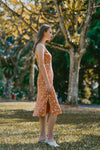 EDEN LACED FLORAL DRESS (BURNT ORANGE)
