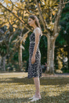 EDEN LACED FLORAL DRESS (NAVY)