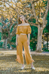 MIA RUFFLED OFF SHOULDER TOP (MUSTARD)