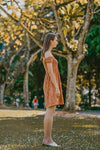 NADINE SMOCKED OFF SHOULDER DRESS (BURNT ORANGE)