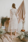 BELLE LONG SLEEVED CHIFFON MAXI DRESS (IVORY)