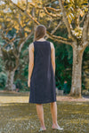 SIENNA SLEEVELESS SHIFT DRESS (NAVY)
