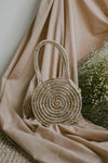 LIYANA SMALL ROUND TOTE BAG (NATURAL)