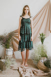 NIGHTINGALE CHIFFON MIDI DRESS (GREEN)
