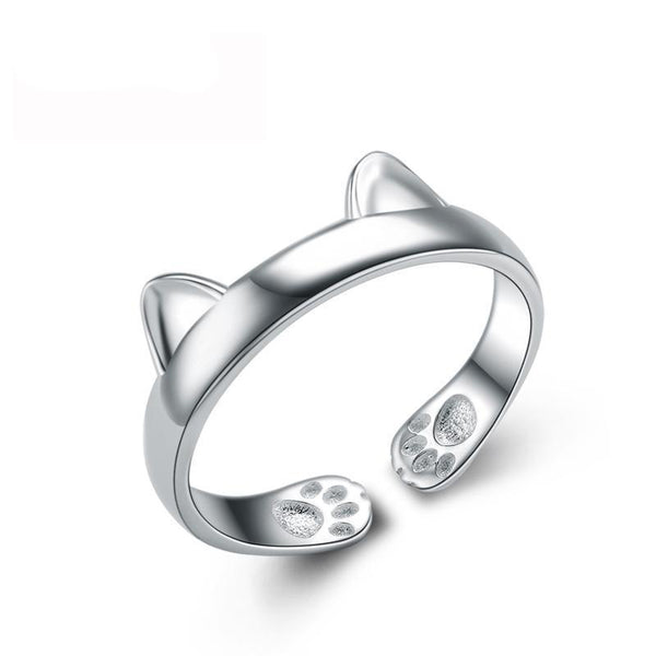 Premium 925 Sterling Silver Dog Lovers Ring - Gizmocool