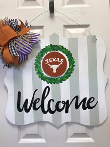Welcome Sign with (3) Interchangeable Minis