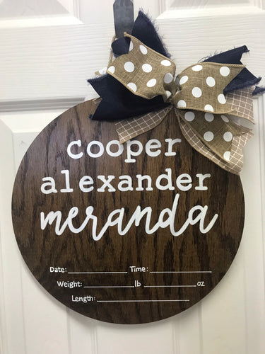 Baby Announcement Sign (12 in)