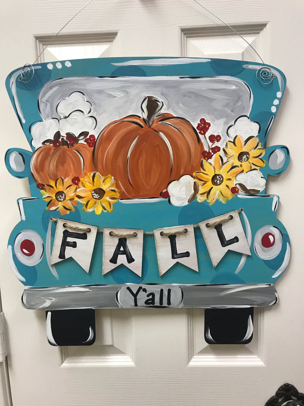 """Fall Y'all"" Truck with 3-D Banner"