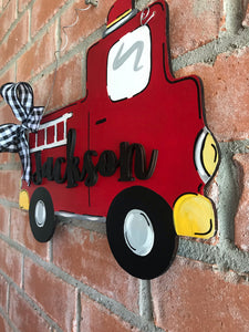 Personalized Fire Truck