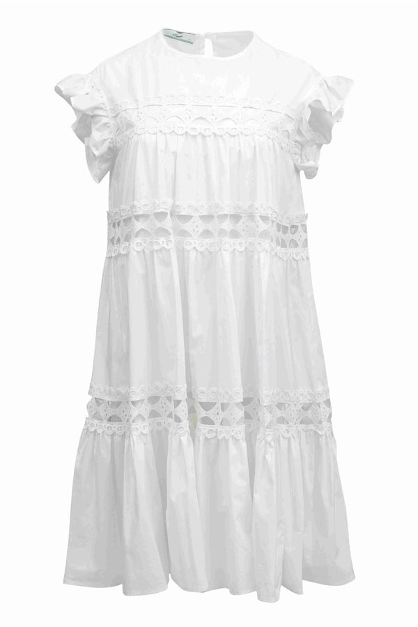 Cologne Dress in White