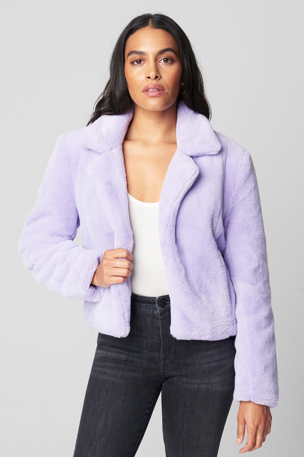 Faux Fur Jacket in Senorita