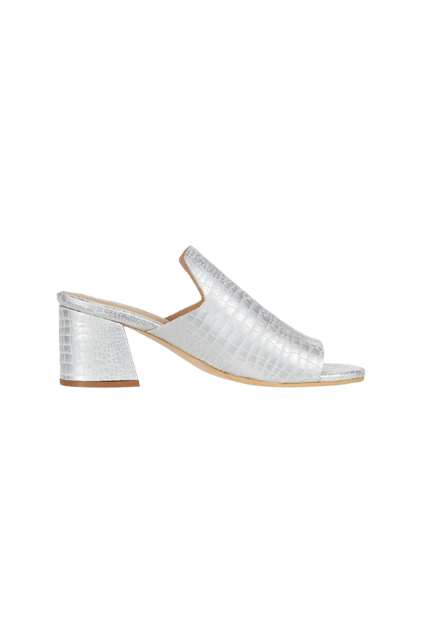 York Croc-Embossed Loafer Heel
