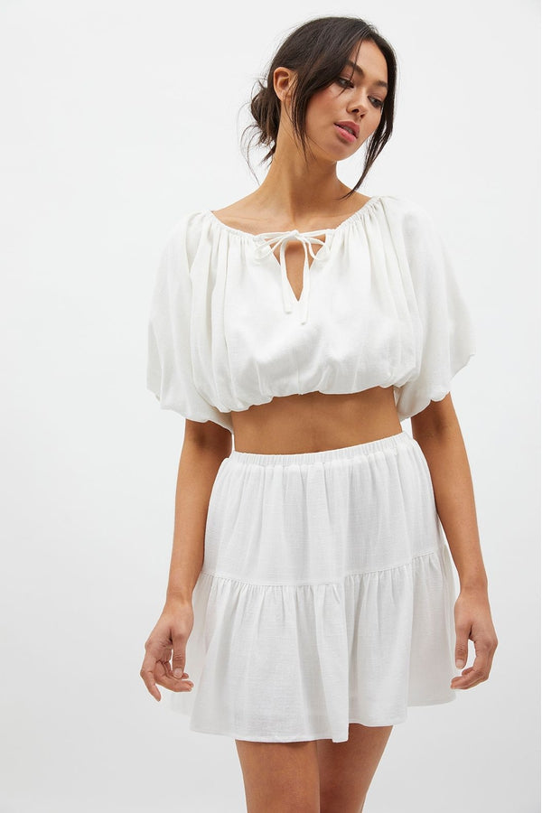 Cadence Bubble Crop in White