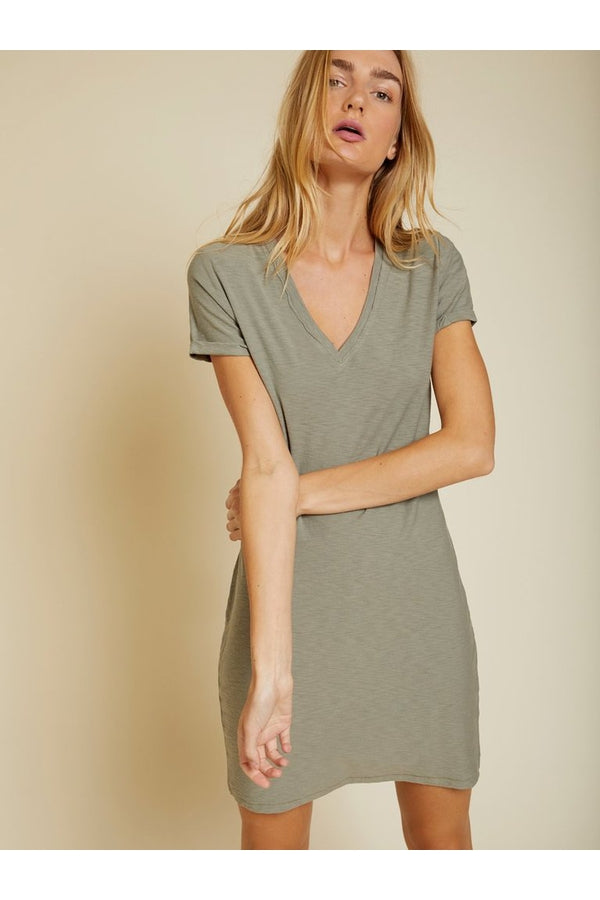 Blair T-Shirt Dress in Dirty Martini