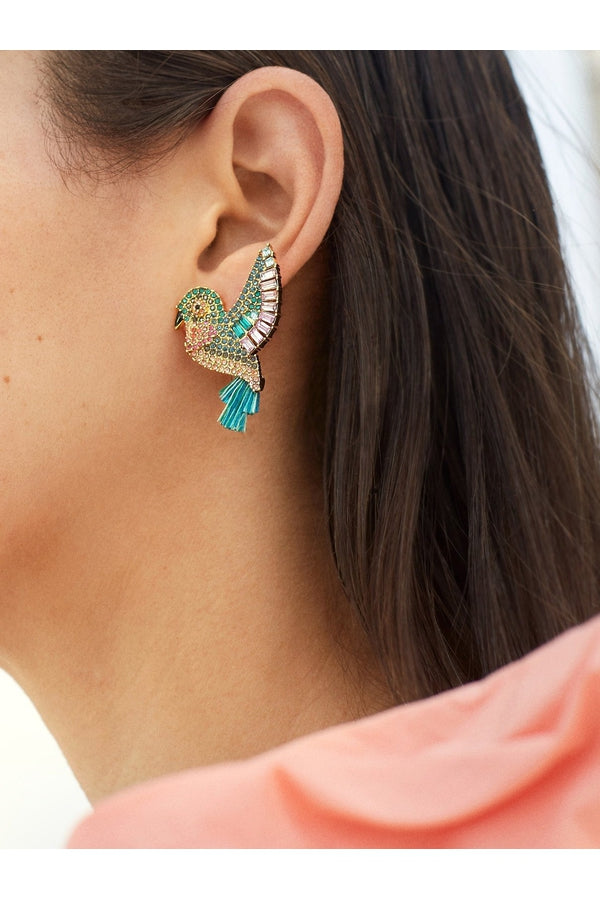 Hummingbird Drop Earrings